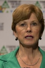 Facing a revolt: Greens leader Christine Milne.