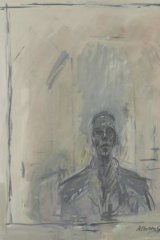 John Myatt, in the style of Giacometti, Portrait of Samuel Beckett, 1961, oil on canvas. One of Myatt's' 'genuine fakes', sold under his own name, in the style of another artist. Copyright 2014 Washington Green Fine Art Publishing Company Ltd.