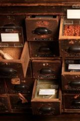 Spice drawers at Gewurzhaus.