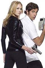 Super spy ... Yvonne Strahovski with her Chuck co-star Zachary Levi.