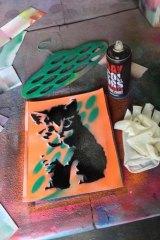 Postcard from Berlin's street art tour: Tim Richards' stencilled cat.