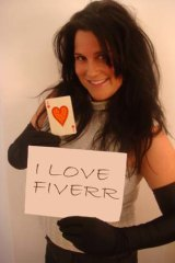 Michelle, 39, from Perth, sells video testimonials on Fiverr.