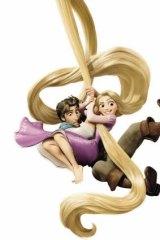 Scene from the animated Disney movie <I>Tangled</I>.