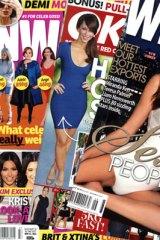 The gossip mags ... <em>NW</em>, <em>OK</em> and <em>Who</em>.