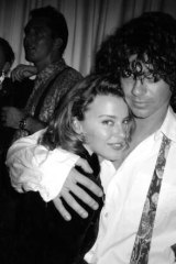 Kylie Minogue with late INXS frontman Michael Hutchence.