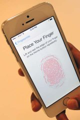 The iPhone 5S fingerprint scanner in action.