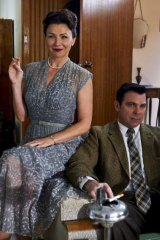 Proud parents?: Anita Hegh as Evelyn and Warrick Young as Ted in the mini series Carlotta.