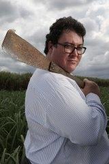 George Christensen in a sugar cane field near Mackay, Queensland.