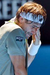 Mercury rising: David Ferrer feels the heat,