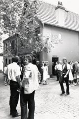 The scene after a brawl at the Mitre in 1988.