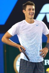 Confident ... [Bernard] Tomic shows no signs of mental fragility.