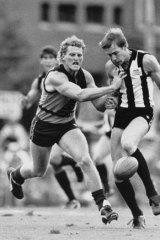 John Fidge playing for Brisbane Bears in 1987.