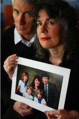 Anthony and Chrissie Foster with a family portrait.