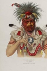 A portrait by Charles Bird King in <i>History of the Indian Tribes of  North America</i>, 1836.