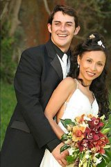 Jocelyn Edwards with her husband, Mark.