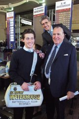 Family business … Waterhouse with his father Robbie and grandfather Bill at Rosehill in 2001 …