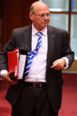 ICAC witness: Senator Arthur Sinodinos in Canberra on Monday.