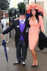 On display ... Lyons with Elissa Friday at Ascot Racecourse in the UK in 2011.