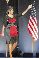 Michelle Obama in the election-victory dress criticised by Germaine Greer.