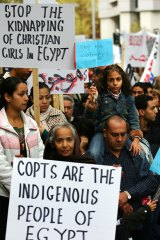 Egyptian Coptic Christians marched in Melbourne in 2006 in protest against persecution by Muslims. The community will hold marches in Sydney and Melbourne today after the Christmas massacre of Christians.