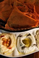 The one dish you must try ... the mixed dips of hummus, labni and babaghanoush, $14.90.