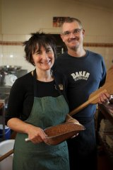 Lyndall Francis and Iain Banfield at Fruition Bakery.