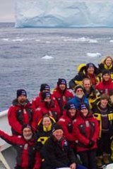 Ice work: The team involved in the research.