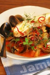 Hearty and generous ... the Ligurian fish stew.
