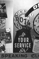The speaking clock, circa 1953.