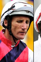 Damien Oliver, left, and Jimmy Cassidy.