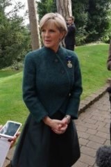 Julie Bishop in Newport, Wales.