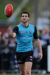 Out of the nest: Young Magpie Alex Fasolo is confident of a solid performance against Geelong - if he gets the chance.