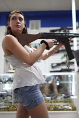 Browsing for guns: Trying out firearms in Florida, USA.