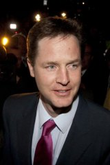 Nick Clegg at party headquarters.