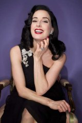 Queen of burlesque Dita Von Teese is back in Oz.