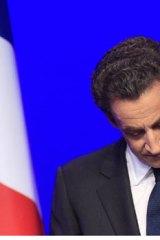 Nicolas Sarkozy faces his loss.