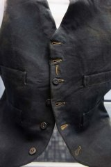 A life under the ocean waves ... passenger William Henry Allen's wool black vest is seen among artifacts recovered from the RMS Titanic wreck site.
