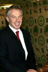 Tony Blair with Muammar Gaddafi.