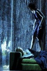 A scene from Schaubuehne Berlin's production of Ibsen's Hedda Gabler.