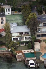 Settling in nicely ... Leonardo DiCaprio's pad while in Sydney.
