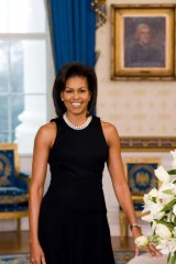 Michelle Obama's First Lady portrait from 2009.