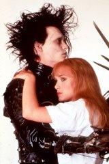 Johnny Depp and Winona Ryder in <i>Edward Scissorhands</i>.