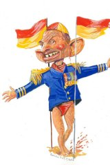 """All opposition and no leader"" ... Tony Abbott needs a more positive strategy. <em>Illustration: Rocco Fazzari</em>"
