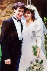 Elisabeth and Lisa on their wedding day.