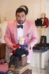 Nicholas Atgemis in his Vaucluse silk bow tie store.