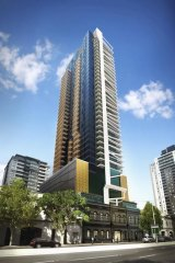 Leighton Properties has bought a 50 per cent stake in the $175 million, 41-storey residential apartment tower Wrap, at Southbank.