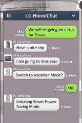 Cute or creepy? The LG HomeChat app.
