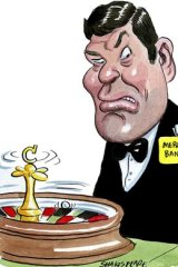 Dethroned ... a unit of James Packer's Crown Limited was among the victims. <em>Illustration: John Shakespeare</em>