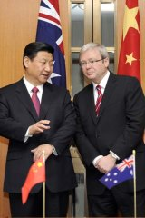 Xi who must be obeyed: Kevin Rudd meets China's then vice-president Xi Jinping in June 2010.