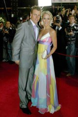 Lleyton Hewitt with wife Bec.